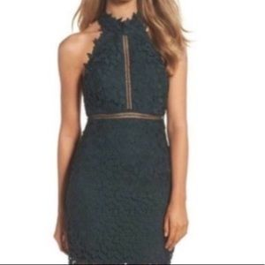 Bardot Green Lace Gemma Dress NWT